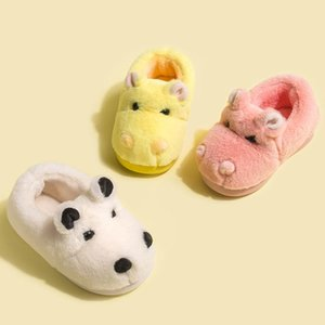 Wholesale warm indoor shoes children for sale - Group buy JAYCOSIN Children Winter Ankle Boots Super Cute Cartoon Hippo Fluffy Shoes Girl Boy Indoor Plush Warm Shoes Non Slip Short Boots