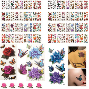 Wholesale cool girl tattoos resale online - 200PCS Beautiful Cute Sexy Body Art Beauty Makeup Cool Disposable Waterproof Temporary Tattoo Stickers For Girls And Man T200908