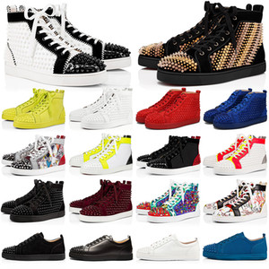 Wholesale blue spiked sneakers for sale - Group buy 2020 Red Bottom Sneakers Casual Shoes Mens Womens Low High Designer Full Spikes Roller Boat Flats Skateboard Loafers Luxury Man Woman Shoe