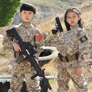Wholesale sports army camouflage clothing resale online - HAN WILD Kids Tactical Army Uniform Hunting Clothing Sets Children Camouflage Hiking Jackets Outdoor Sport Suit