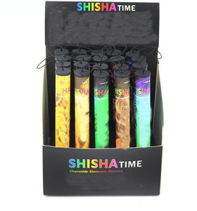 tubos de tiempo shisha pluma al por mayor-Shisha Time E Hookah Puffs Pipe Pen Electronic Cigarette Stick Sticks Shisha Hookah Dispartible Dispositivo Vape Pen