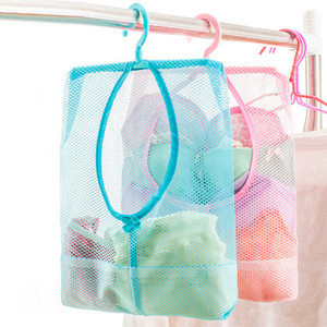 Wholesale hanging bathroom for sale - Group buy Hanging Storage Bag Bathroom Soap Towel Debris Draining Mesh bag Organizer Balcony Socks Underwear Drying Clothes Basket