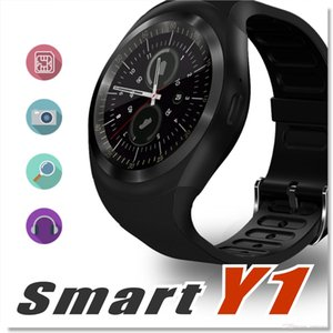farbe wecker kinder großhandel-Y1 Smart Watch Color Screen Step Sleep Monitoring Wecker Smart Wear Bluetooth Card Sport Watchs für iPhone Samsung Huawei