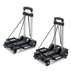 Wholesale folding dolly cart resale online - Black Folding Lage Cart Light Aluminum Collapsible Portable Fold Up Dolly Hand Truck for Travel Moving and Office Use