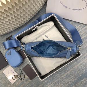 Top quality handbags 2020 women fashion purses multi pochette blue chains composite shoulder reedition bag sacs à main de luxe de concepteur