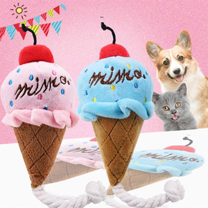 crème en peluche achat en gros de-news_sitemap_homeAnimaux en peluche Cartoon Jouets pour chiens grincement Pet Toy mignon en peluche Puzzle pour chiens Chat Chew Siffleur Squeaky Pet Ice Cream Toy