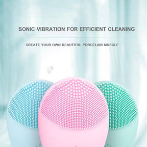 Wholesale washer sales resale online - 2020 Hot Sale Deep pores cleansing skin care tools electric facial cleanser waterproof face washer silicone facial cleansing brush