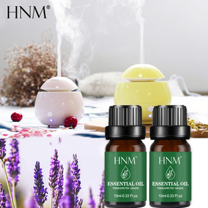 HNM 10ML Pure Essential Oil Massage Humidifier Orange Peppermint Tea Tree RoseEucalyptus Lemongrass Lavender Ginger Aroma