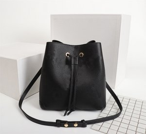 Wholesale high qaulity resale online - Original High Qaulity Fashion Handbags Purses Neonoe Bucket Bag Women Classic Style Genuine Leather Shoulder Bags
