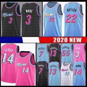 Bam 13 Jimmy Tyler 22 Butler 14 Herro Adebayo Basketball Jersey MiamiHeat55 Dwayne Dwyane 3 Wade Goran Duncan Dragic Robinson Nunn