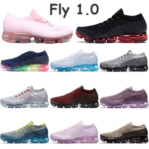 ingrosso le scarpe in flash-Fly Scarpe da corsa Tripla Bianco Bianco Puro Pure Platinum University Red Rust Rush Pink Oreo Ice Ghiaccio Flash Bred Medianight Navy Mens Sneakers