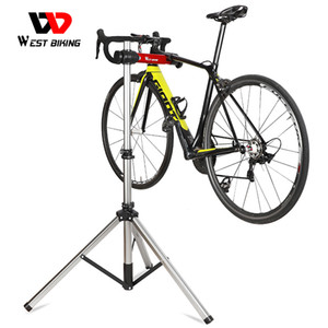 Wholesale aluminum bike stand resale online - WEST BIKING Bike Repair Stand Professional Parking Racks Adjustable Fold Bicycle Repair Tools Aluminum Alloy Bike Display Stand