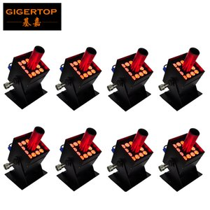 Wholesale solenoid valve resale online - Gigertop x3W Led CO2 Jet Equipment Stage Led Lighting Black Solenoid Valve Barndoor Case DMX Channels W Power Freeshipping