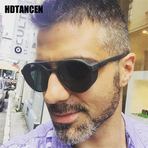 Wholesale eyewear flip sunglasses resale online - HDTANCEN Steampunk Sunglasses Women Men Retro Goggles Round Flip Up Glasses steam punk Vintage Fashion Eyewear