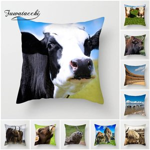 Wholesale cow prints for sale - Group buy Fuwatacchi Animal Printed Cushion Cover Spanish Bullfighting Cow Pillows Cover for Home Sofa Decorative Pillowcases cm New