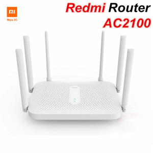 Xiaomi youpin Redmi AC2100 Router Gigabit Dual-Band Wireless Router Wifi Repeater with 6 High Gain Antennas Wider Coverage Easy setup