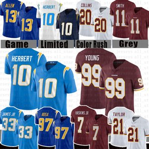 Chase Young Jersey Justin Herbert Keenan Allen Jersey Dwayne Haskins James Taylor Joey Bosa Washington