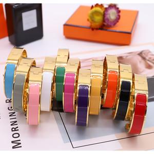 Enamel Rainbow Woman Bracelet Fashion Bracelets for Man Women Jewelry Bracelet Jewelry 11 Color Optional with BOX
