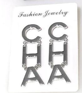 New Designer Stainless Steel Letter Tassel Earrings For Women Fashion Asymmetrical Stud Earrings Jewelry Gifts 3 Color