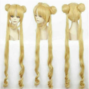 100% Brand New High Quality Fashion Picture wigs>>Girl Sailor Moon Cosplay Costumes Wig Tsukino Usagi And Princess Serenity wig