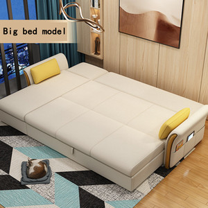 Wholesale store cloth resale online - Sofa bed multi function retractable cloth art sitting room recreational combination corner stores content double imperial concubine sofa man