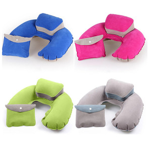 Wholesale air pillows for sale - Group buy Portable Air Inflatable Travel Pillow U Shape Neck Pillow Cushion For Office Car Airplane Travel Sleep Cervical