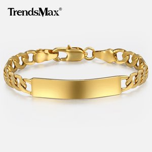 Wholesale child gold filled for sale - Group buy Baby s Bracelet Gold Filled Figaro Chain Smooth Bangle Link Bracelet For Baby Child Boys Girls Nice Gifts mm cm KGBM100