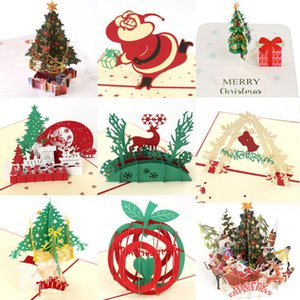 Wholesale valentine cards resale online - 3D Up Cards Birthday Valentines Day Merry Christmas Invitation Halloween Holiday Party Wedding Xmas Greeting Cards Gift Card