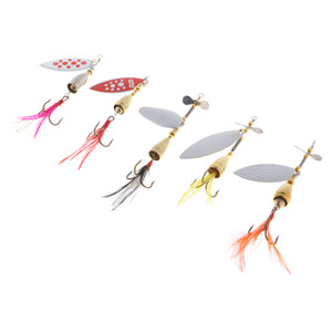 Wholesale trout bass fishing lures hard baits resale online - 5pcs Heavy Weight Metal Hard Bait Spoon Fishing Lure Spinnerbait Bass Trout Salmon Lure for Freshwater Saltwater