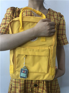 Outlet Fjallraven Kanken Classic Backpacks Unisex Yellow Waterproof Bag Counters Quality Double Zippers Laptop Bag Schoolbags Free Shipping