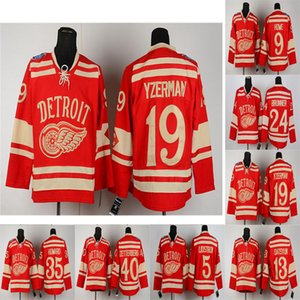 bob probert großhandel-Winter Classic Detroit Red Wings Jersey Jimmy Howard Steve Yzerman Henrik Zetterberg Bob Probert Pavel Datsyuk Hockey Jersey Stitch