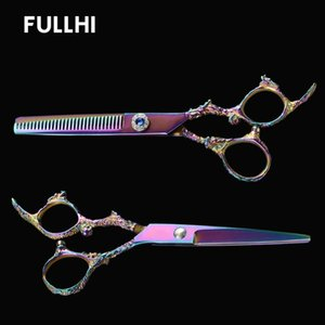 Wholesale thinning hair haircuts for sale - Group buy Hairdressing Scissors Cutting Thinning Hair Scissors Dragon Sculpture Handle Barber Shop Salon Accessories for Haircut with Case
