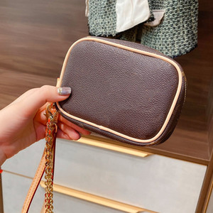 Wholesale hold chains resale online - Coin Purse Hand Held Single Shoulder Messenger Chain Bag Fashion Old Flower Letter Zipper Mini Purse High Quality