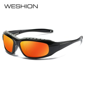 Wholesale clout goggles for sale - Group buy WESHION Polarized Sunglasses Men Women Sport Sun glasses Brand Designer Clout Goggles Vintage UV400 Reflective Gafas De Sol