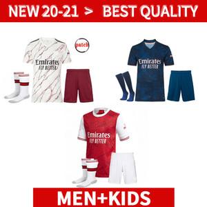 Men + Kids kit Gunner 20 21 Arsen Soccer Jersey PEPE NICOLAS CEBALLOS HENRY GUENDOUZI SOKRATIS TIERNEY 2020 2021 Home Away Third Football