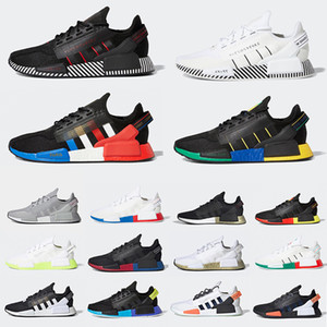 ingrosso oro scarpe di colore uomo-Red Marble NMD R1 Mens Running Shoes Military Green Oreo atmos Bred Tri Color OG Classic Men Women Thunder Sports Trainer Sneakers
