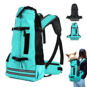 Wholesale dog carrier backpacks resale online - Outdoor Pet Dog Carrier Bag for Small Medium Dogs Corgi Bulldog Backpack Reflective Dog Travel Bags Pets Products C1008