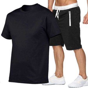 chicos corriendo sets al por mayor-Boys Fitness Sports Casual Muscle Muscle Running Formning y camiseta Set Pantalones cortos de gran tamaño