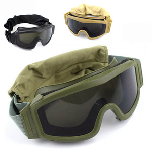 Wholesale tactical lenses resale online - Black Tan Green Tactical Goggles Shooting Sunglasses Lens Army Airsoft Paintball Motorcycle Windproof Wargame Glasses