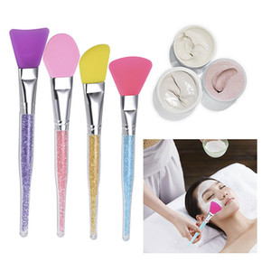 Wholesale silicone masks for sale resale online - Hot Sale Silicone Face Mask Brush for Facials Hairless Applicator Tools Rhinestone Handle