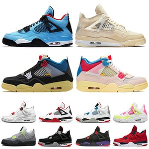 Wholesale sneakers new for sale - Group buy New jumpman s Travis Fire Red Sail basketball shoes Union Guava Ice Black Cat Court Purple Bred mens womens trainers sneakers