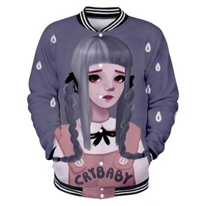 Wholesale cry baby for sale - Group buy Cry Baby Melanie Martinez unisex Role playing comfortable Baseball Jacket Fashion Long sleeved Jacket Casual