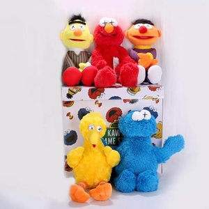 Wholesale toys elmo resale online - 32 cm new arrive High Quality Sesame Street Elmo Cookie Monster Soft Plush Toy Dolls Children Educational Toys gift for kids