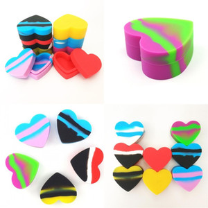 Wholesale making love resale online - Silicone Love Heart Dab Box ml Make Up Storage Containers Soft Anti Wear Lady Mini Case Travel Outdoor Portable bs G2