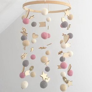Wholesale crib mobile arm resale online - Baby Crib Holder Rattles DIY Colorful Balls Hanging Baby Crib Mobile Bed Bell Toy Degree Rotate Arm Bracket Set1