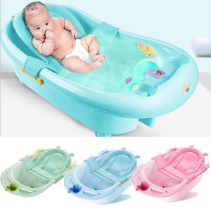 Wholesale bathe tub resale online - Baby bath net Tub Security Support Child Shower Care for Newborn Adjustable Safety Net Cradle Sling Mesh for Infant Bathing LJ201026