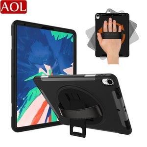 Wholesale heavy duty leather belts resale online - Heavy Duty Hybrid Shockproof Tablet Case For iPad Pro with Stand Leather belt for iPad Pro Protector Cover