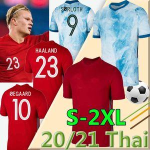 2020 2021 NOR National team soccer Jerseys Ullevaal HAALAND ÖDEGAARD SÖRLOTH NORMANN Noreg Home A way Football shirts MAN Uniforms