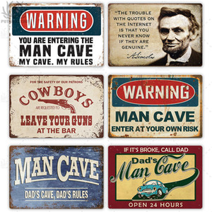 Wholesale man cave garage decor for sale - Group buy 2021 Funny Man Cave Signs Vintage Metal Sign Plaque Metal Vintage Retro Tin Sign Wall Decor for Man Cave Bar Pub Garage Decorative Plate