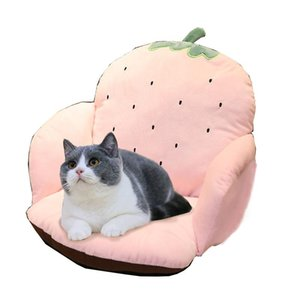 Wholesale strawberry mats for sale - Group buy Ins cartoon fruit half enveloped kitten cushion carrot strawberry cactus pet sleeping cat beds mat cat beds house kitten house